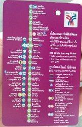 BTS Bangkok Ticket and Map