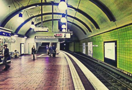 U Bahn Hamburg Metro Map Germany