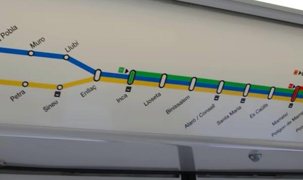 Sfm Subway Map.Palma De Mallorca Metro Map Spain