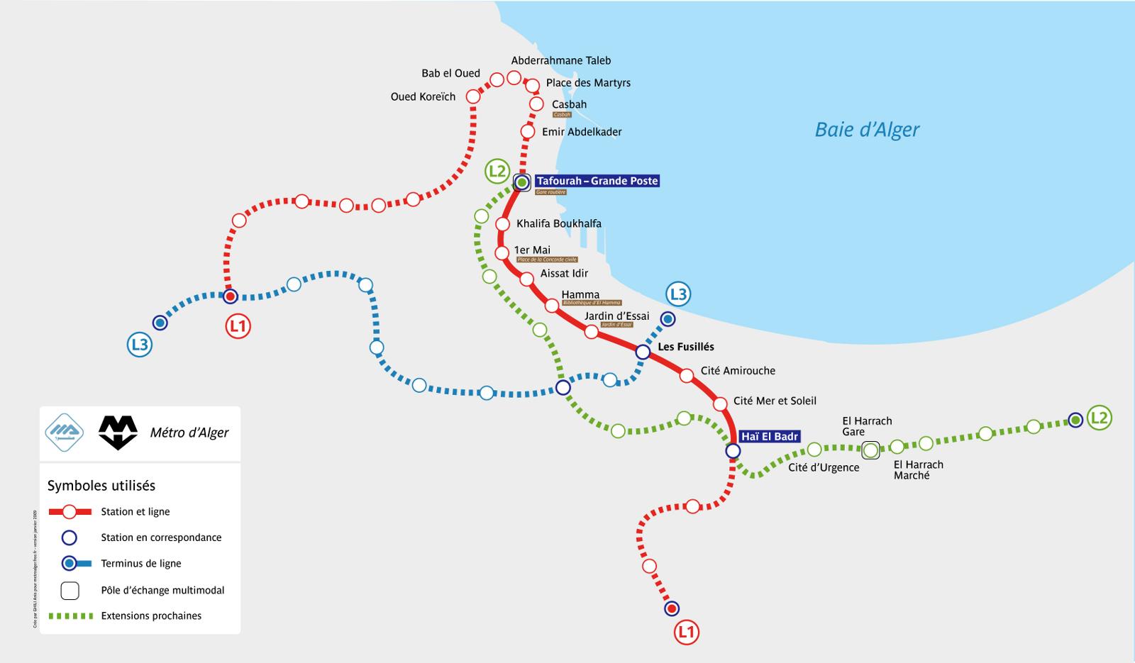 Current La Subway Map.Algiers Metro Map Algeria