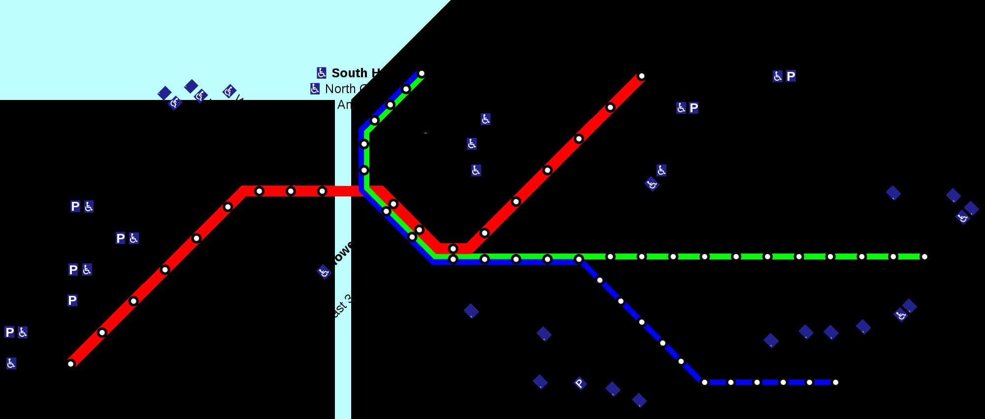 Cleveland Rta Map Rapid Transit: Cleveland metro map, United States