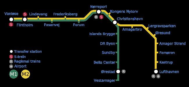Subway Map Of Kopenhagen.Copenhagen Metro Map Denmark