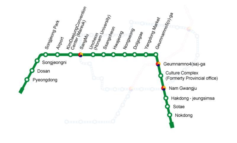 Resultado de imagen para metro de gwangju