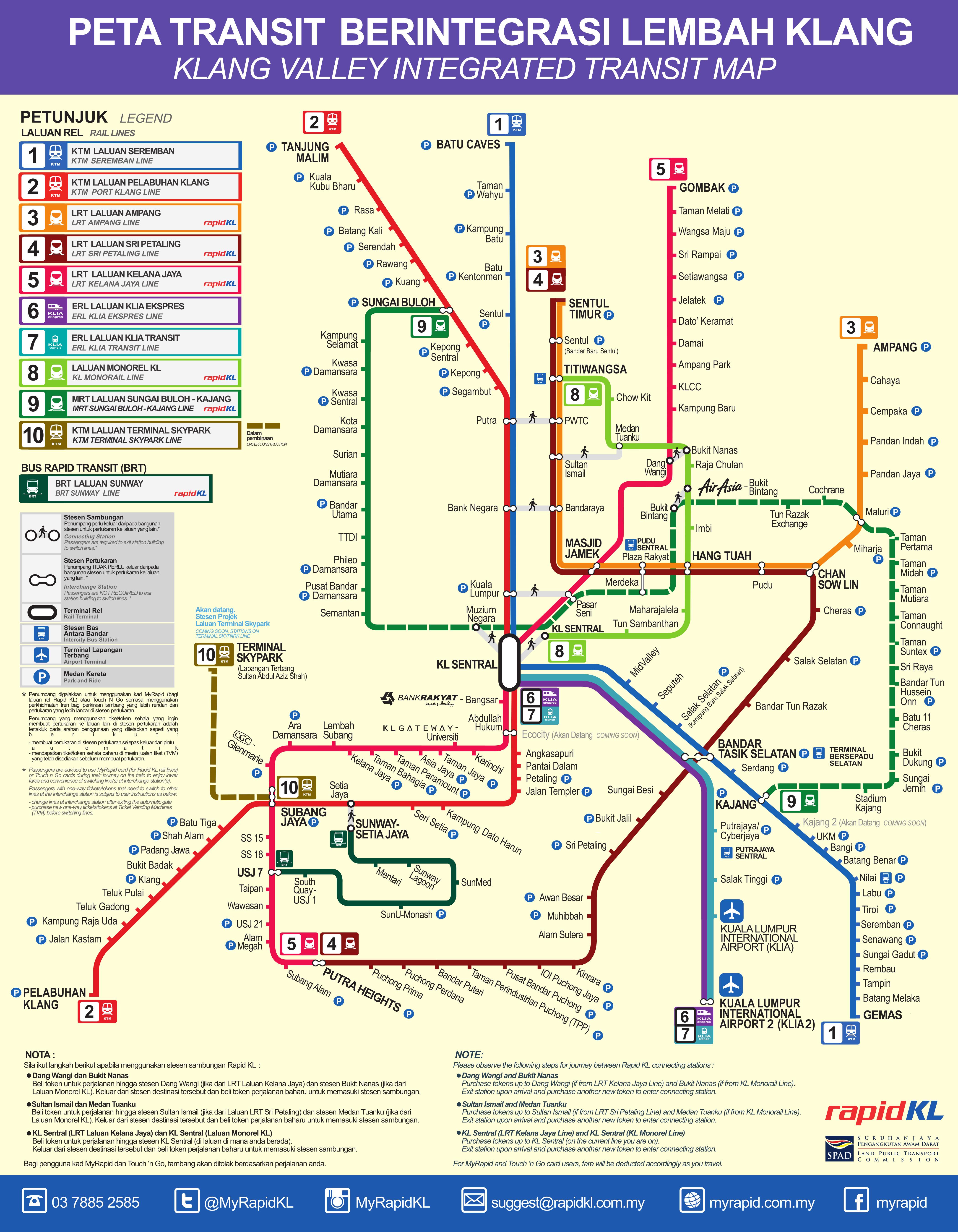 Got Karte Deutsch.Lrt Monorail Kuala Lumpur U Bahn Karte Malaysia