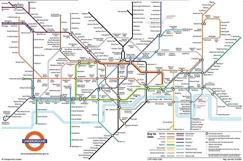 Cartina Londra Zona 1.Mappa Di Underground Di Londra Inghilterra