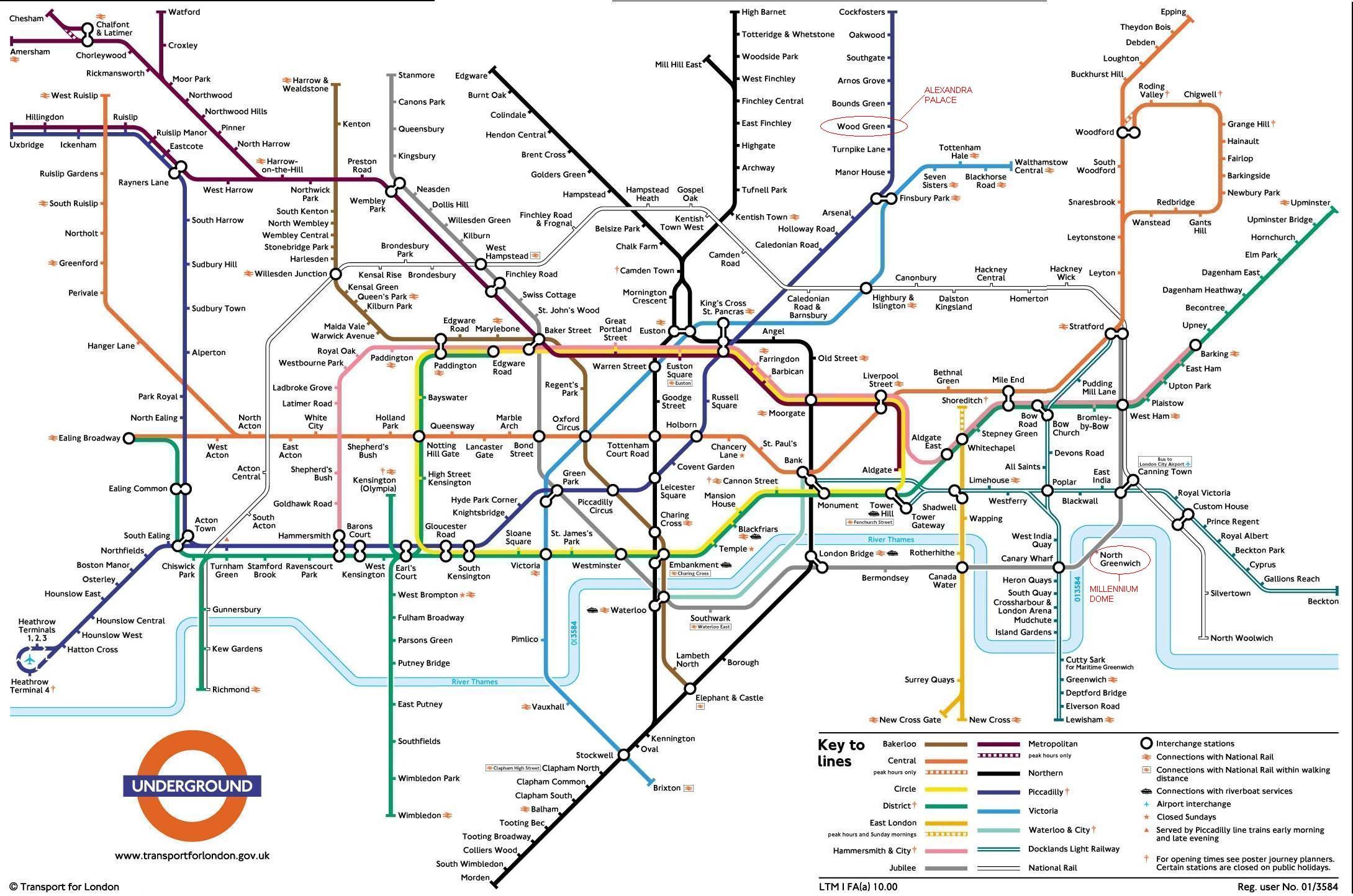 linha de metro em londres mapa Underground : Mapa do metrô de Londres , Inglaterra linha de metro em londres mapa