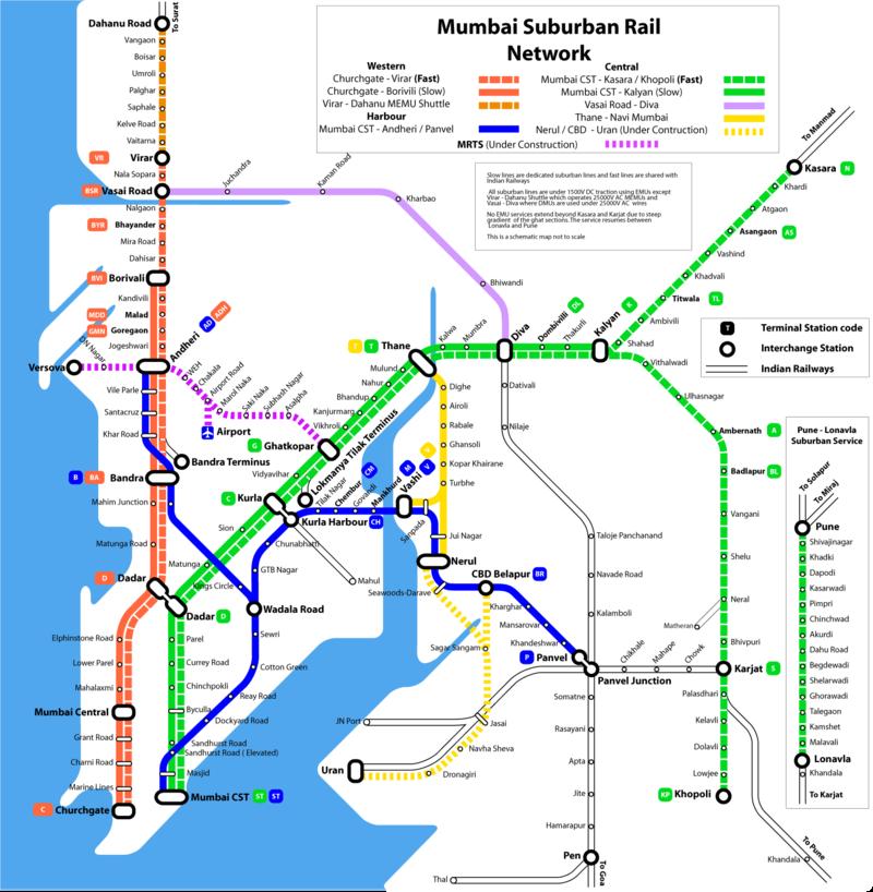 Mappa della metropolitana di Mumbai Alta risoluzione