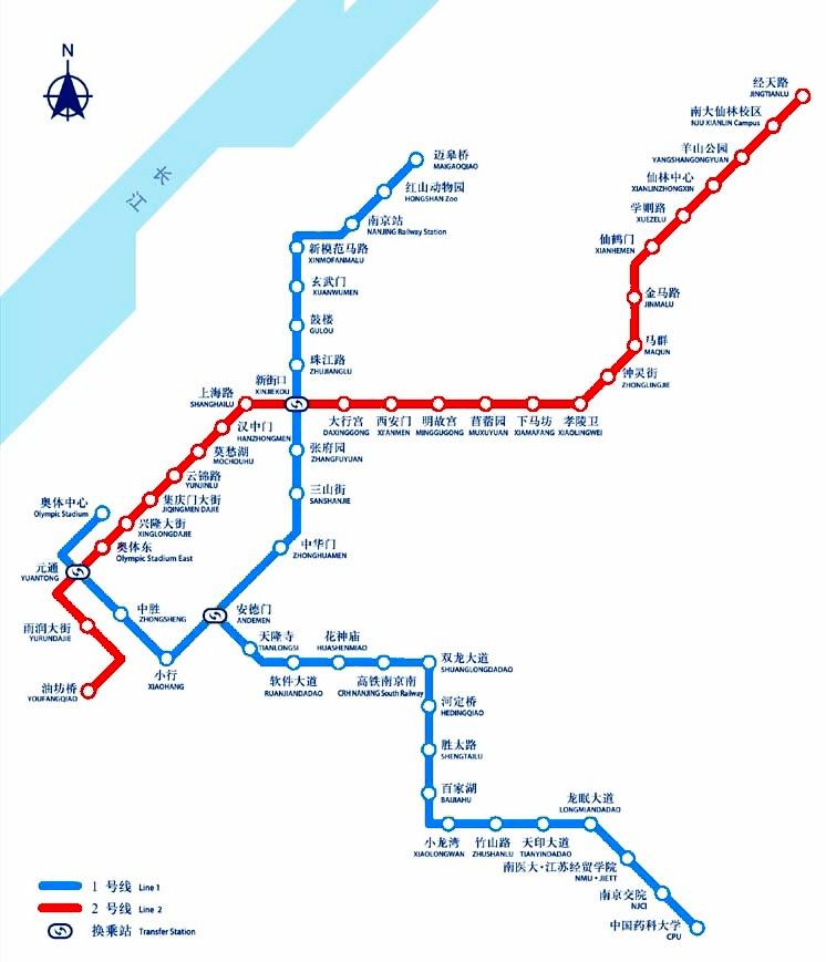 Suzhou Subway Map.Nanjing Metro Map China