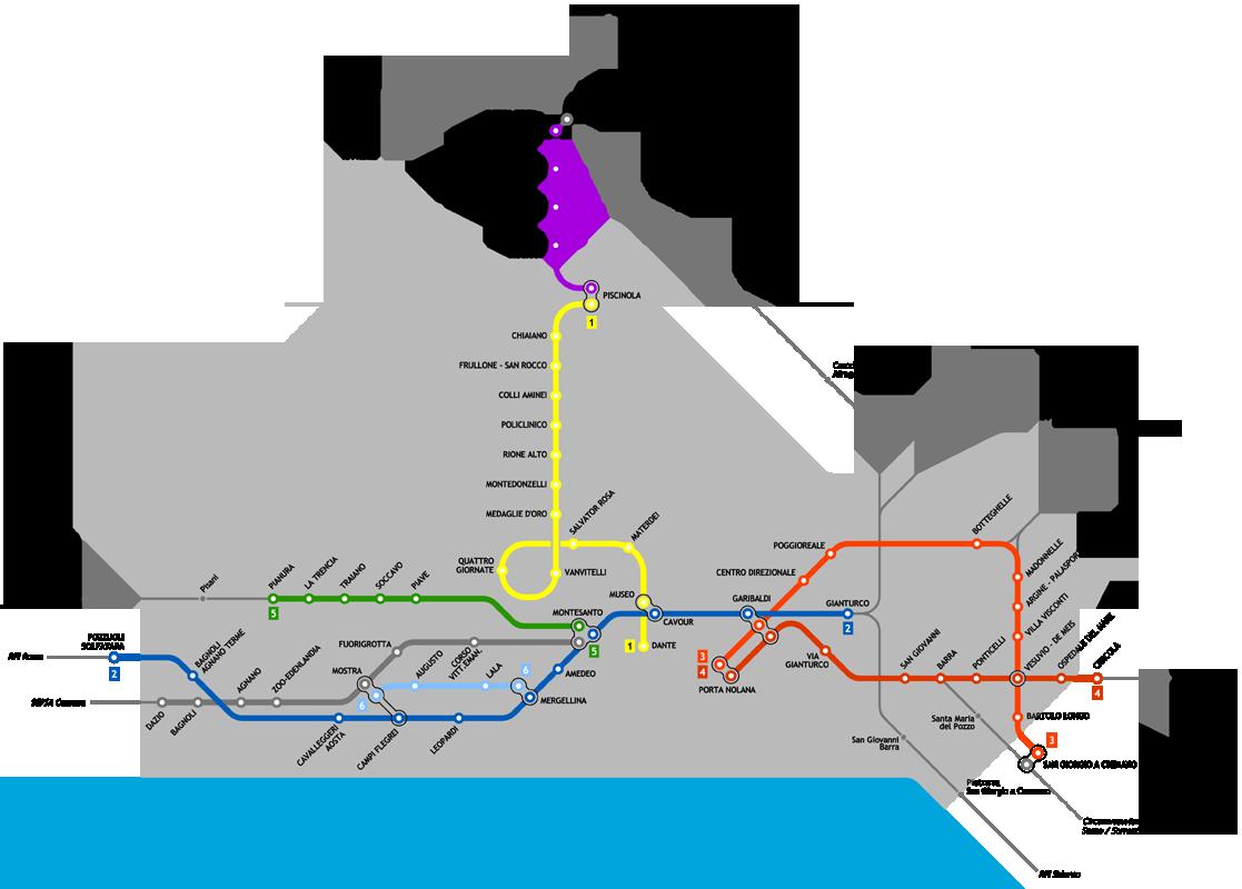 Cartina Vomero Napoli.Mappa Di Metropolitana Di Napoli Italia