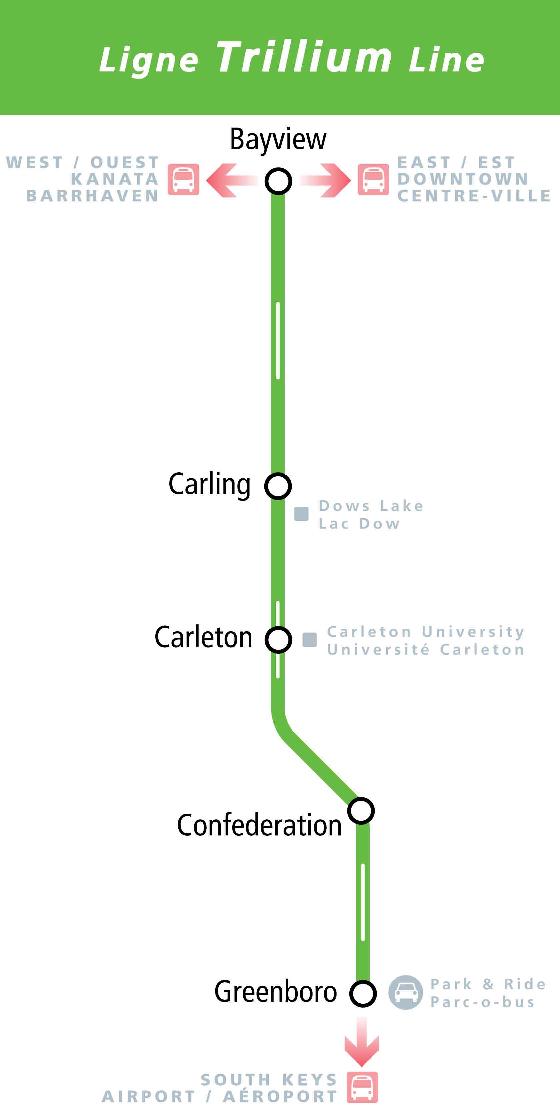 Ottawa Subway Map.O Train Ottawa Light Rail Map Routes Tickets And More