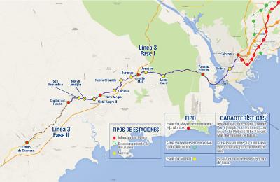 Panama Metro Mapa Linea 3