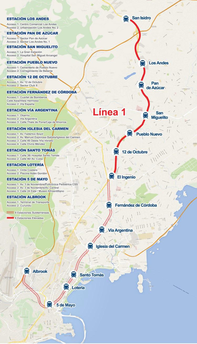 Current La Subway Map.Panama Metro Map Panama