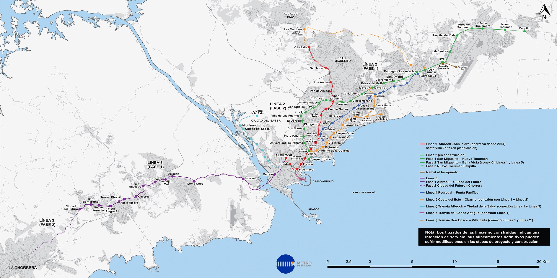 Panama Subway Map.Panama Metro Map Panama