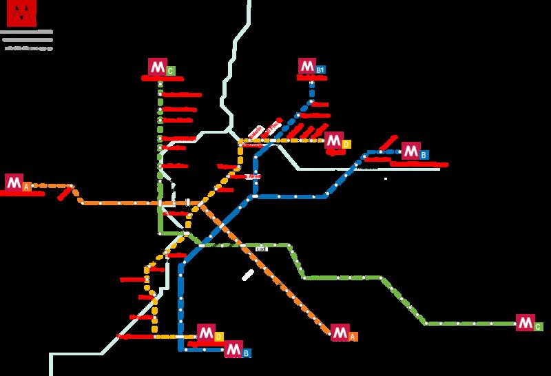mapa metro roma Rome metro map, Italy mapa metro roma