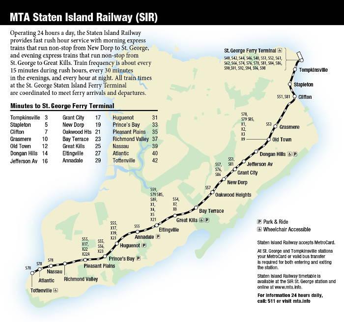Staten Island Bus Map New York Map