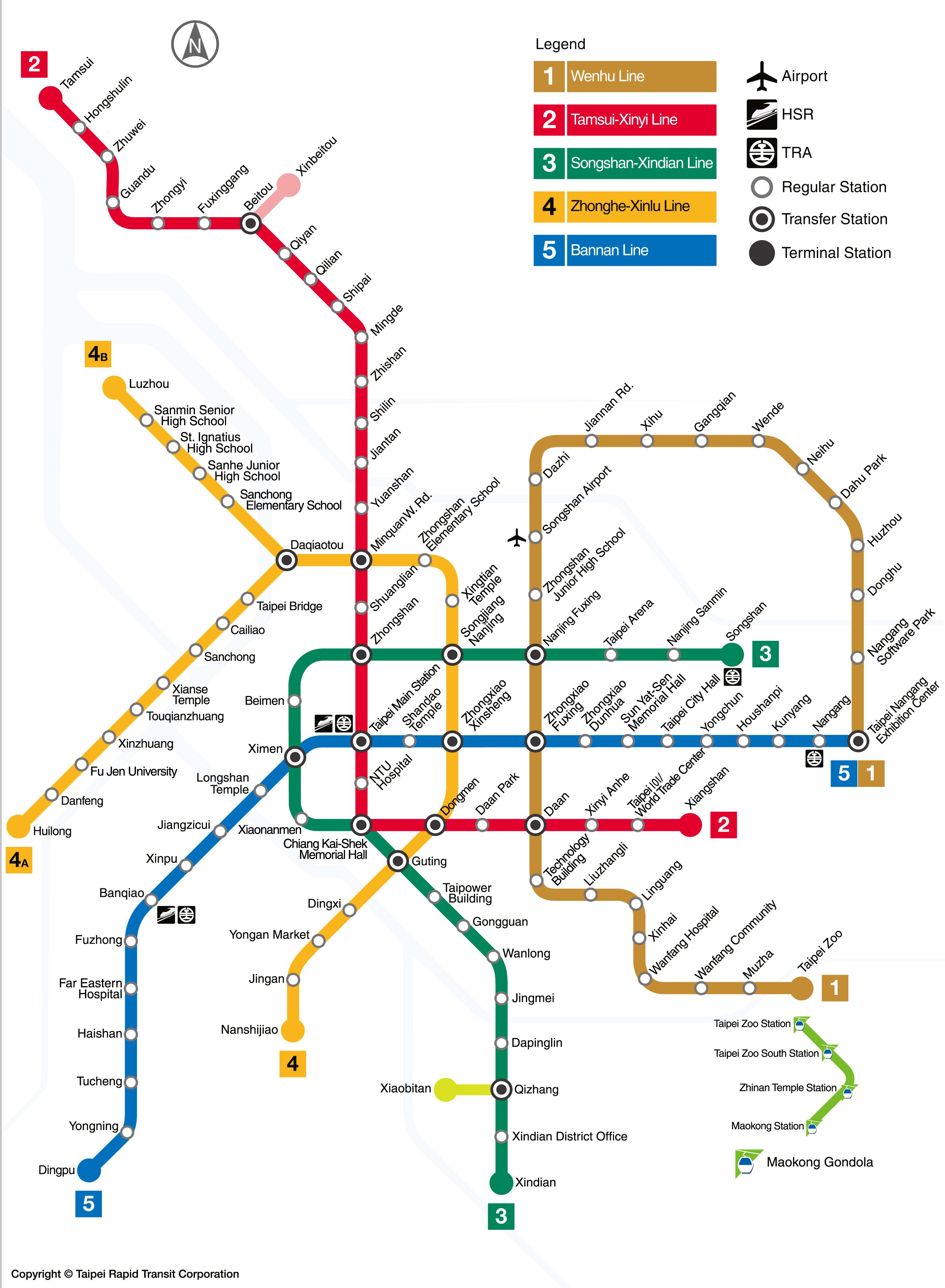 Taipei Mrt Map MRT: Taipei metro map, Taiwan
