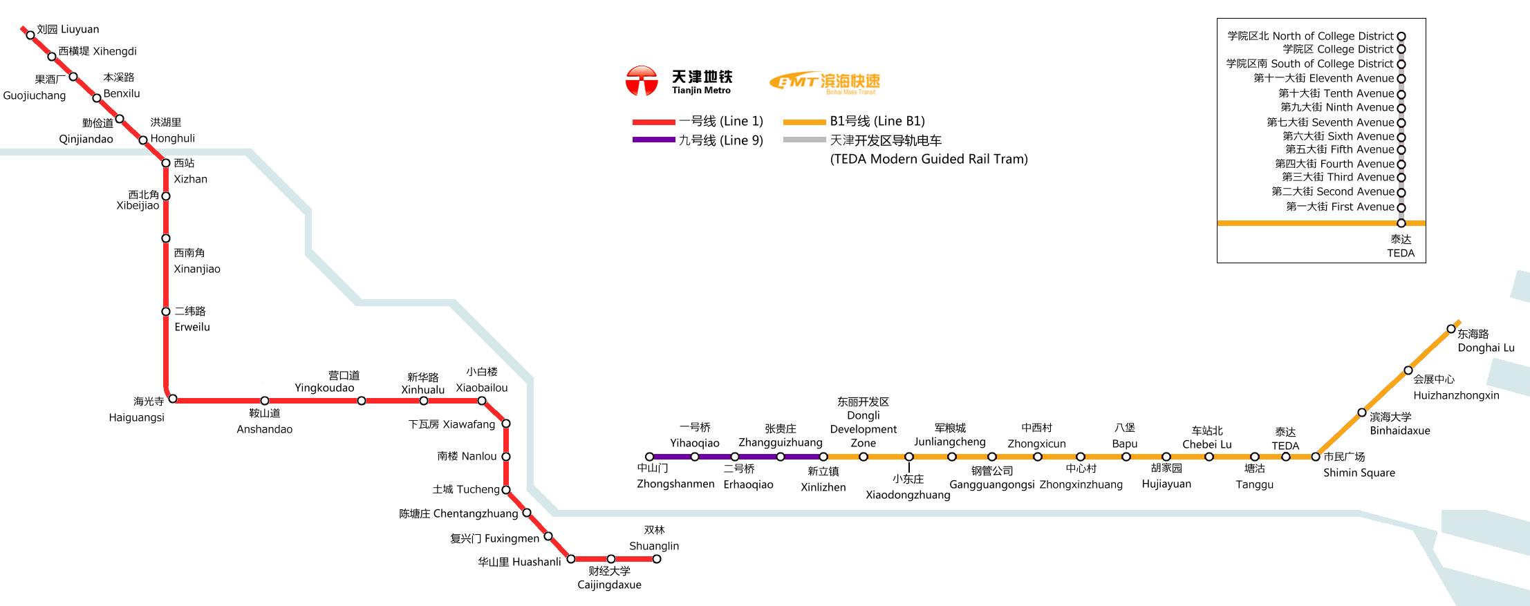 Tianjin Subway Map.Tianjin Metro Map China