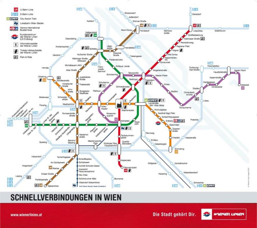 mappa metro vienna da