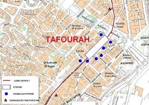 Algier's underground La Grande Poste station plan