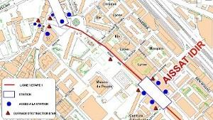 Algier's underground Idir Aissat station plan