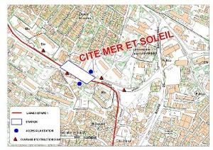 Algier's underground Mer et Soleil station plan