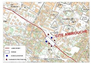 Algier's underground Amirouche station plan