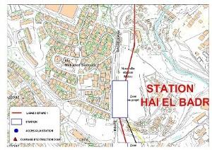Algier's underground Hai El Badr station plan