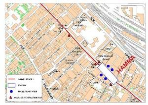 Algier's underground Hamma station plan