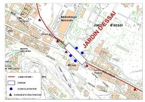 Algier's underground Jardin D'Essais station plan