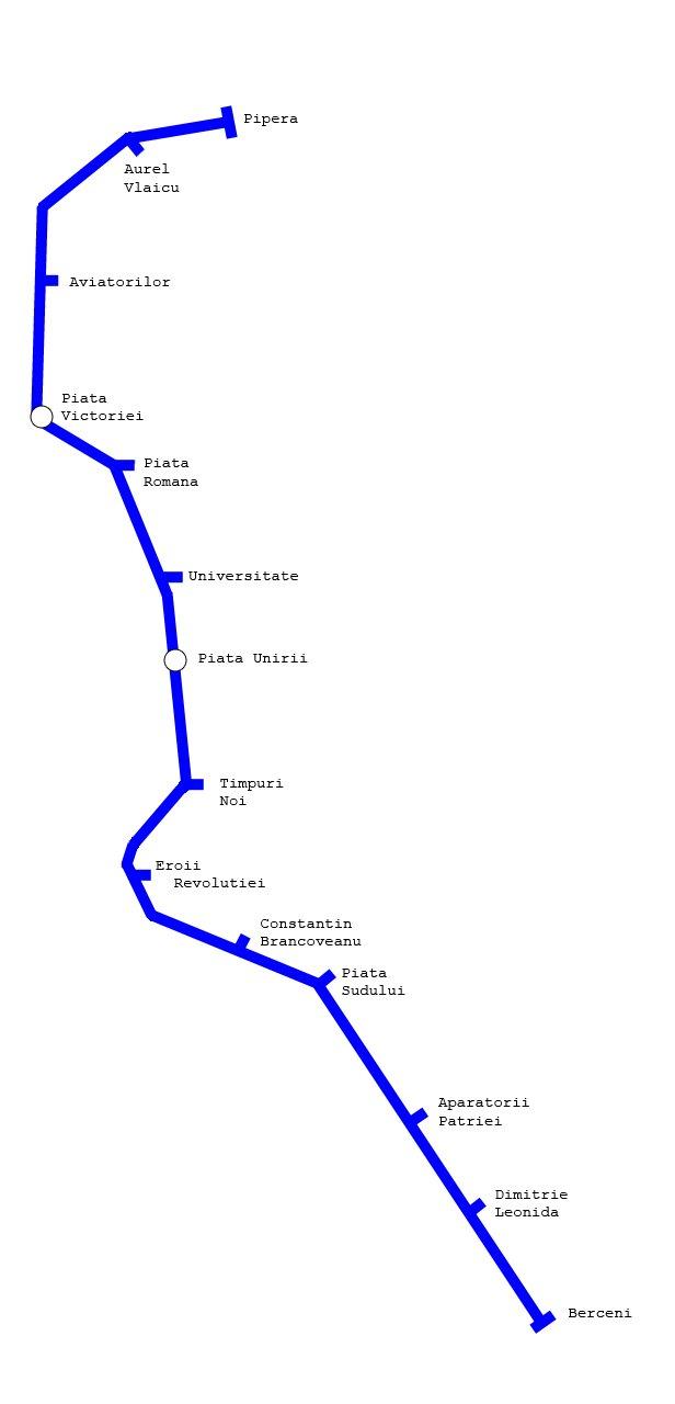 Bucharest Metro Map Romania