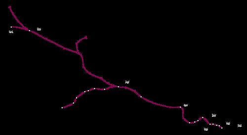 Mapa de Metropolitan Line, metro de Londres