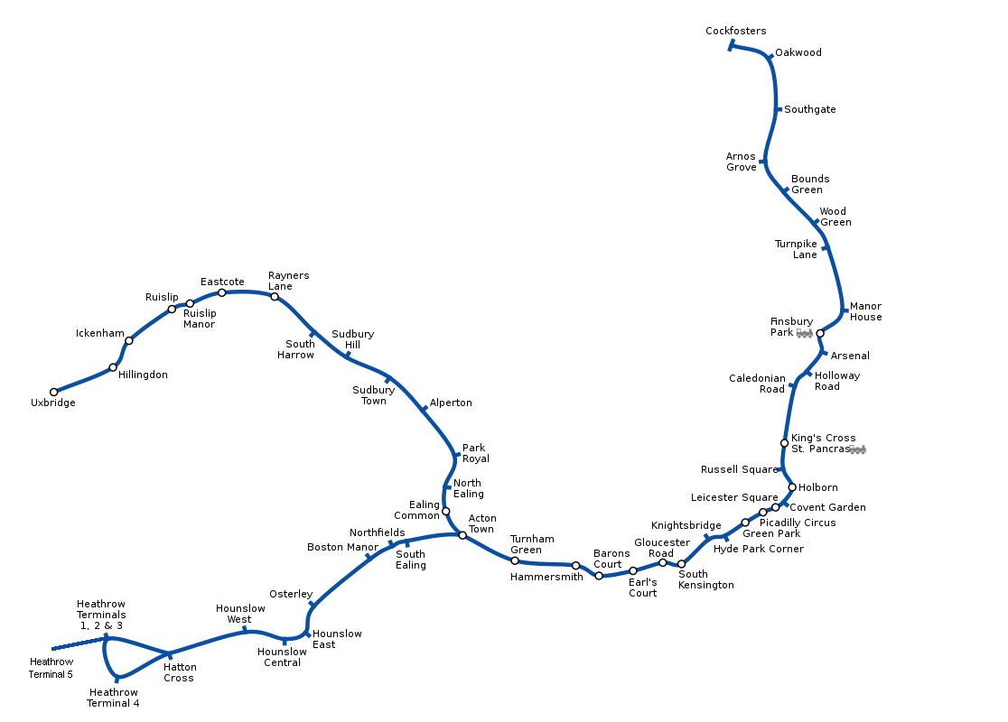 Underground London metro map England