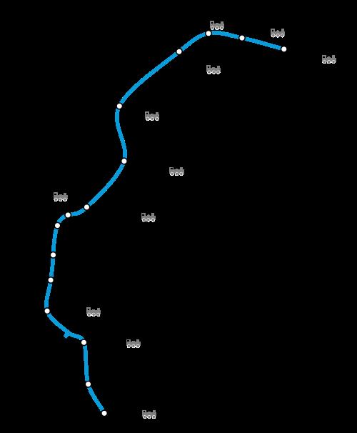 Mapa de Victoria Line, metro de Londres