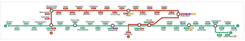 Mrt Singapore Metro Map Singapore